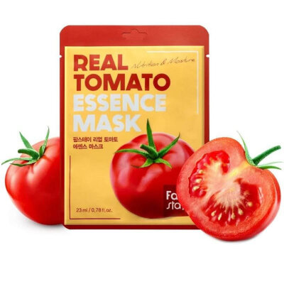 Тканевая маска для лица с экстрактом помидора Farm Stay Real Tomato Essence Mask