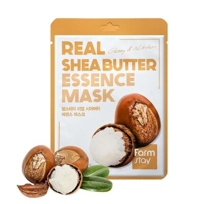 Тканевая маска для лица с экстрактом масла ши Farm Stay Real Shea Butter Essence Mask
