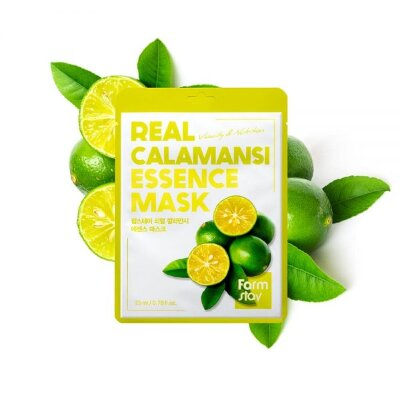 Тканевая маска для лица с экстрактом каламанси FarmStay Real Calamansi Essence Mask
