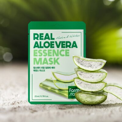 Тканевая маска для лица с экстрактом алоэ FarmStay Real Aloe Vera Essence Mask