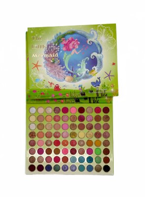Палетка теней для век Yameiyan The Little Mermaid 80 Colors Eyeshadow Palette