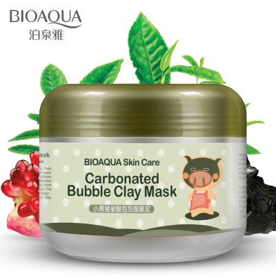 Кислородная маска для лица BioAqua Carbonated Bubble Clay Mask 100g