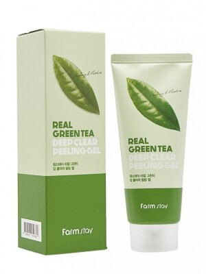 Пилинг-гель с зеленым чаем FarmStay Real Green Tea Deep Clear Peeling Gel 100 ml