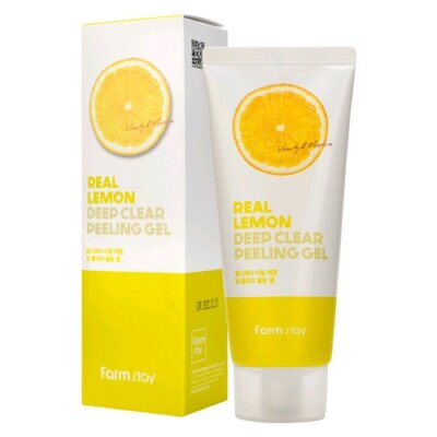Пилинг-гель с экстрактом лимона FarmStay Real Lemon Deep Clear Peeling Gel 100ml