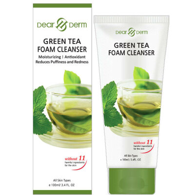 Пенка для умывания Dear Derm Green Tea Foam Cleanser 100 ml