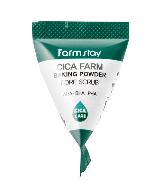Скраб для лица с центеллой и содой в пирамидках FarmStay Cica Farm Baking Powder Pore Scrub