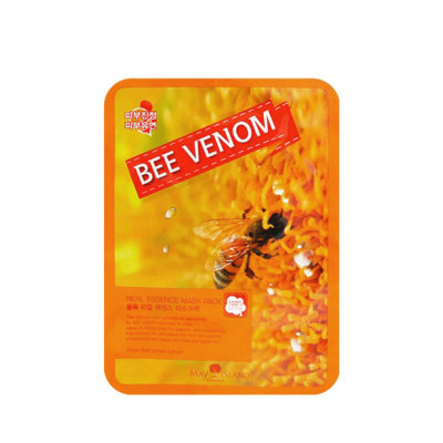 Тканевая маска для лица May Island Real Essence Bee Venom Mask Pack 25мл