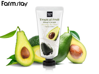 Крем для рук с экстрактом авокадо и маслом ши FarmStayTropical Fruit Hand Cream Avocado & Shea Butter 50 ml
