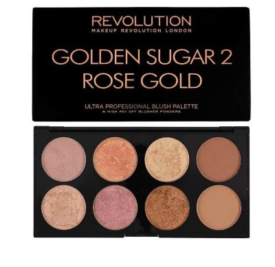 Палетка румян и хайлайтеров Revolution Ultra Blush Palette Golden Sugar 2 Rose Gold